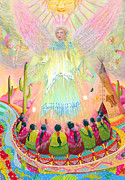 Expressive Native American Indian Posters - The Peoples Revival Poster by Jacquelin Vanderwood