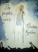 Christina Aguilera Paintings - The Peoples Voice  by Whitney F