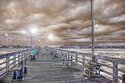 Benches Photos - The Perfect Storm by East Coast Barrier Islands Betsy A Cutler