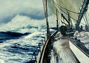 Artist Michael Swanson Prints - The Perfect Storm Print by Michael Swanson