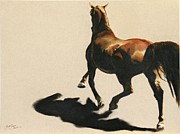 The Horse Pastels Prints - The Perfect Storm Print by Shaila Yovan Tenorio
