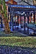 Moss Green Prints - The Pergola in Pioneer Square II Print by David Patterson