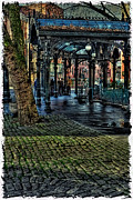Moss Green Posters - The Pergola in Pioneer Square III Poster by David Patterson