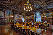 Ny Prints - The Periodical Room At The New York Public Library Print by Susan Candelario