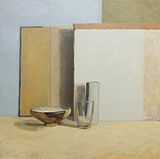 Rectangles Paintings - The Peruvian Bowl  by William Packer