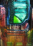 Pallet Knife Art - The pestilent wine by Michael Kulick