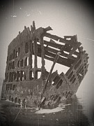 Neurotic Images Photography Prints - The Peter Iredale 5 Print by Chalet Roome-Rigdon