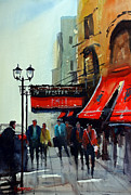 Streetscape Painting Originals - The Pfister 2 - Milwaukee by Ryan Radke