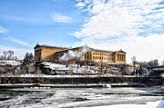 Philadelphia Art Museum Prints - The Philadelphia Art Museum in Wintertime Print by Bill Cannon