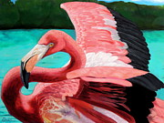 Flamingo Paintings - The Phoenix by Maritza Tynes