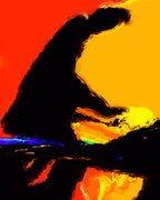 Abstract Art Digital Art - The Pianist by Richard Rizzo