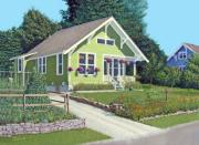 Powell River Townsite Posters - The Pickles house Poster by Gary Giacomelli