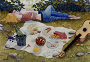 Picnic Paintings - The Picnic 1995 by Larry Preston