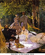Summer Dresses Paintings - The Picnic by Claude Monet
