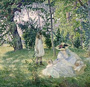 Picnic Paintings - The Picnic by Henri Lebasque