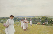 Pinafore Prints - The Picnic  Print by Henry Crockett