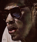 Rapper Paintings - The Pied Piper of Intrigue - Jay Z by Reggie Duffie