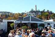 Outdoor Cafes Metal Prints - The Pier 23 Cafe Overlooking San Francisco Coit Tower 5D25946 Metal Print by Wingsdomain Art and Photography
