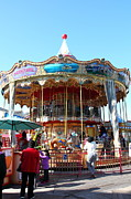 Spectator Prints - The Pier 39 Carousel And Performers San Francisco California 5D26120 Print by Wingsdomain Art and Photography