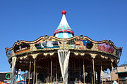 Carnivals Photos - The Pier 39 Carousel And Performers San Francisco California 5D26126 by Wingsdomain Art and Photography