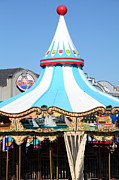 Carnivals Photos - The Pier 39 Carousel San Francisco California 5D26100 by Wingsdomain Art and Photography
