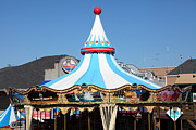Carnivals Photos - The Pier 39 Carousel San Francisco California 5D26101 by Wingsdomain Art and Photography