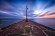 Cornwall Prints - The Pier at sun rise Print by John Farnan