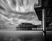 Monochrome Framed Prints - The Pier I Framed Print by David Bowman