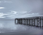 Kim Hojnacki Metal Prints - The Pier Metal Print by Kim Hojnacki