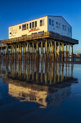 Maine Shore Posters - The Pier Poster by Susan Candelario