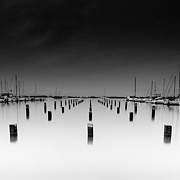 Black Top Framed Prints - The pier Framed Print by Tin Lung Chao