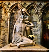 Repent Prints - The Pieta In New York City Print by Dan Sproul