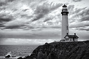 Radio Print Prints - The Pigeon Point Beacon Print by Eduard Moldoveanu