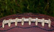 Footballs Closeup Framed Prints - The Pigskin Framed Print by David Patterson