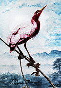 Keen Framed Prints - The  Pink  Bird Framed Print by Hartmut Jager