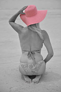 Bikini Art - The Pink Hat by Adrian Alford