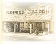 Oldzero Photos - The Pioneer Saloon by Steve Benefiel