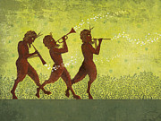 Flute Art - The Pipers 3 by Dennis Wunsch