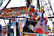Ship In Danger Posters - The Pirate of Penzance and his Wife Poster by Terri  Waters