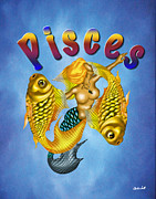 Pisces Digital Art - The Pisces by Charles Smith