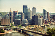 Tall Buildings Prints - The Pittsburgh Skyline Print by Lisa Russo
