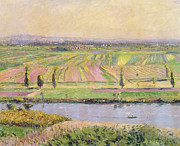 Haut Framed Prints - The Plain of Gennevilliers from the Hills of Argenteuil Framed Print by Gustave Caillebotte