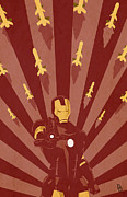 Iron Man Prints - The Playboy Philanthropist  Print by Dave Drake