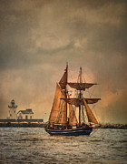 Tall Ships Digital Art Framed Prints - The Playfair Framed Print by Dale Kincaid