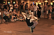 Skate Photo Metal Prints - The Plaza at Night - Madrid Metal Print by Mary Machare