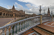 Gonzalez Framed Prints - The Plaza de Espana of Seville Framed Print by Ayhan Altun