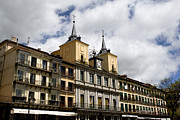 True Cross Metal Prints - The Plaza Mayor Segovia Metal Print by Lorraine Devon Wilke