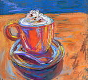 Coffee Drinking Pastels Posters - The Pleasure of a Well-Made Thing Poster by Beverley Harper Tinsley