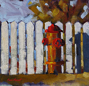 Fire Hydrant Paintings - The Plug by Coni Grant