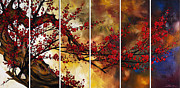 Cherry Blossom Painting Prints - The Plum Blossom 002 Print by Willson Lau